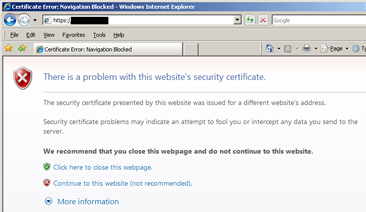 SUPPORT FOR BROWSER SSL ERRORS